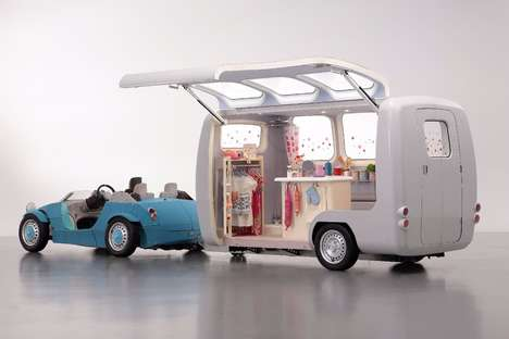 Child Car Trailer Concepts - The Camatte Capsule Children's Car Trailer Embraces Customization