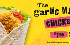 Flavorful Fast Food Wraps - McDonald's UK Recently Expanded Its Line-Up of Big Flavour Wraps