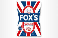 Patriotic Candy Packaging - The New Glacier Fruits Packaging Features a Union Jack Design
