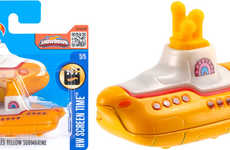 Celebratory Submarine Model Cars - The Beatles Yellow Submarine Hot Wheels Collection is Funky