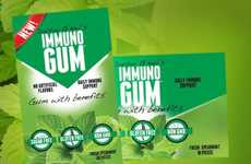 Immunity-Boosting Chewing Gums - Immuno Gum is Designed to Help Support the Immune System