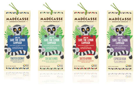 Lemur-Protecting Chocolate Bars - The New Madécasse Chocolate Bars Help Protect Endangered Lemurs