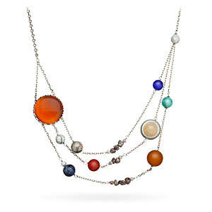 Solar Orbit Jewelry - This Necklace Features All the Planets in Our Solar System