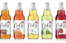 Upscale Fruit Cider Branding - The New Stella Artois Cidre Packaging is Artistically Fresh