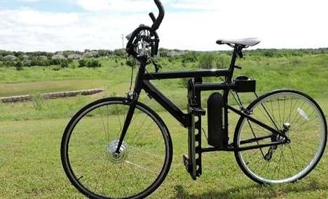 Vertically Pedaled Bicycles - This Innovative Bicycle Features Standing Pedals That Slide Up & Down