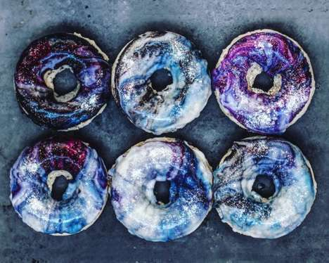 Galaxy Donut Designs - The Cosmic Vegan Donut Recipe Features Designs That Are Out of This World