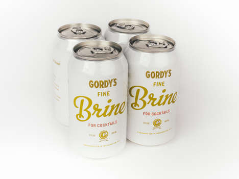 Canned Pickle Juice Beverages - Gordy's Fine Brine Allows Consumers to Enjoy Pickle Juice on the Go
