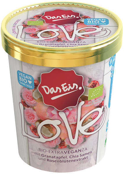 Botanical Vegan Desserts - Das Eis' 'LOVE' Vegan Ice Cream Dessert is Made with Rose Blossom