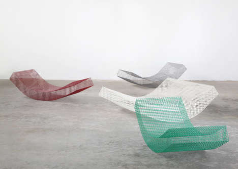 Wireframe Outdoor Loungers - These Daybed Designs by Muller van Severen Accentuate Open Spaces