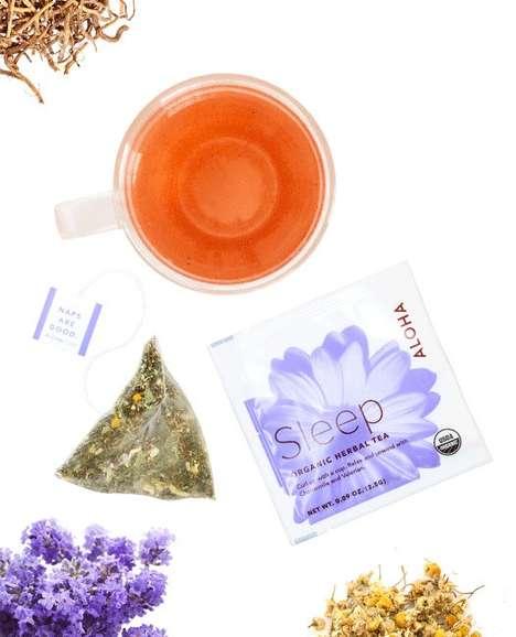 Relaxing Slumber Teas - The ALOHA Sleep Tea Blend Encourages Natural Drowsiness