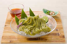 Fermented Tea Noodles - The Ishimaru Sanuki Cha-udon Are Made Using Green Tea Extracts