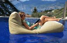 Floating Bean Bag Loungers - The Xpouf Floating Chairs Bring Bean Bags to the Pool