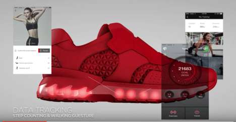Mobile Gaming Sneakers - Lenovo's Intel-Powered Smart Sneakers Double As Mobile Game Controllers