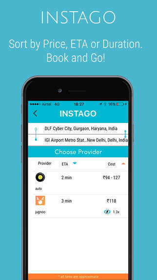 Taxi-Aggregating Apps - The Instago App Aggregates Car, Two-Wheeler and Rickshaw Services