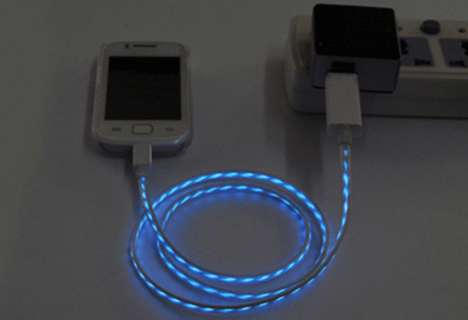 Animated Charging Cables - These LED Charging Cables Show Your Phone Being Charged with Lights
