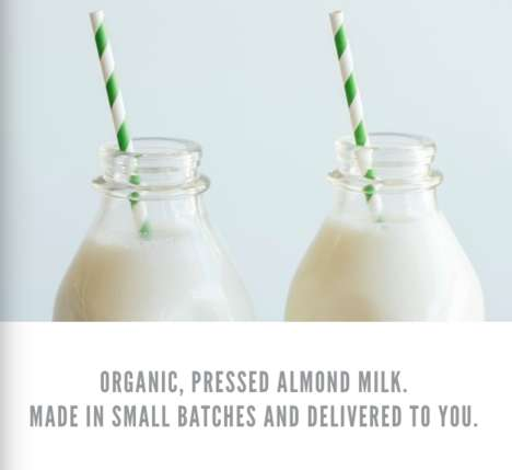 Dairy-Free Milkman Services - Nectar & Green is Reviving the Tradition of Milk Delivery with a Twist