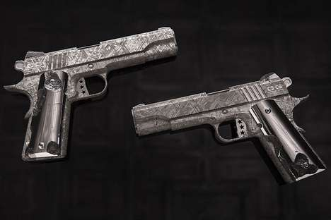 Meteorite Metal Firearms - The Cabot Guns Big Bang Pistol Set is Crafted from Interstellar Material