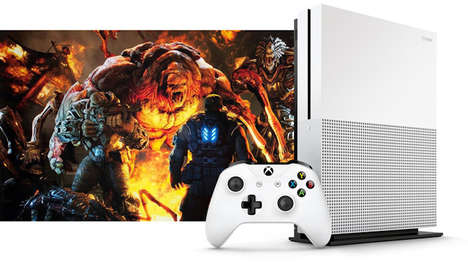 Slim 4K Gaming Systems - The Microsoft Xbox One S is 40% Slimmer than its Predecessor