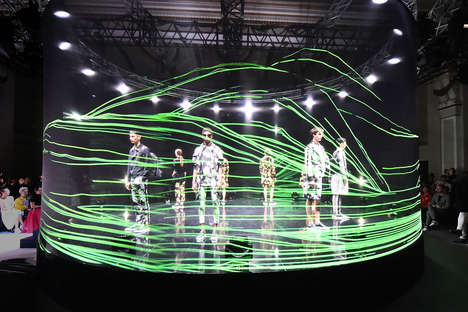 Immersive Fashion Installations - This Digital Fashion Show Was Inspired by The Natural World