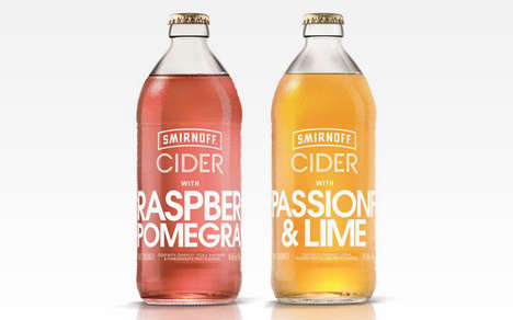 Fizzed Fruit Ciders - The Smirnoff Cider Range Offers Tropical Notes Paired with Vodka Fermentation