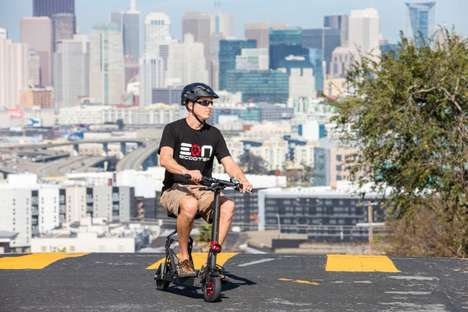 Foldable Electric Scooters - The Eon Scooter is Designed to Easily Tackle Significant Inclines
