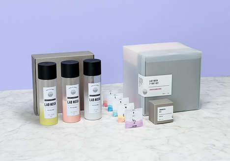 Pharmaceutical Supplement Branding - The Future Food LAB NOSH Packaging and Branding is Futuristic