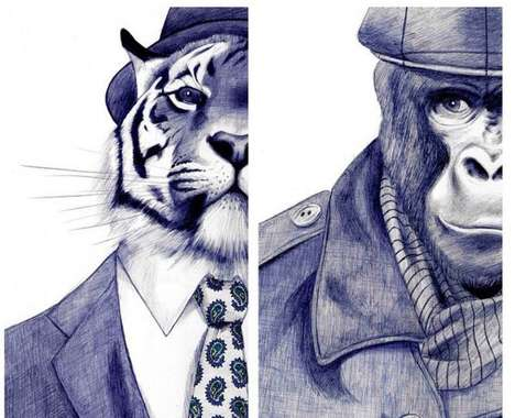 Realistic Pen Illustrations