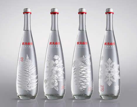 Regional Beverage Branding - Nongfu's Spring Water Packaging is Inspired by Nature