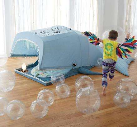 Imaginative Aquatic Play Tents - This Giant Whale Playhouse from Land of Nod Encourages Imagination