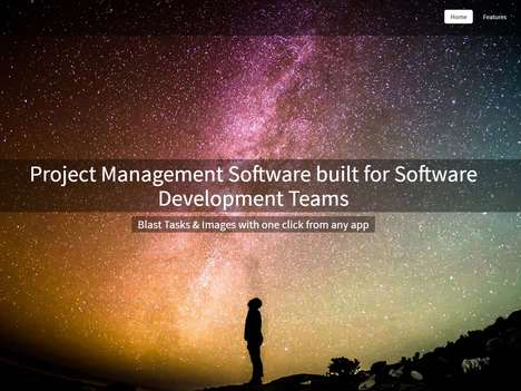 Software Development Project Apps - The 'TaskBlast' Project Management Platform Connects Teams