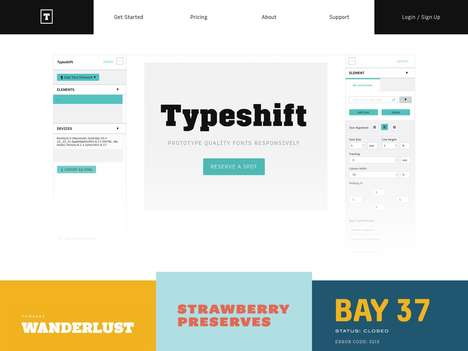 Typographical Coding Apps - The 'Typeshift' App Allows Designers to Test Out Website Text