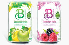 Bubbly Low-Calorie Refreshments - The Ballygowan Sparkling Fruity Water Drinks are Made with Stevia