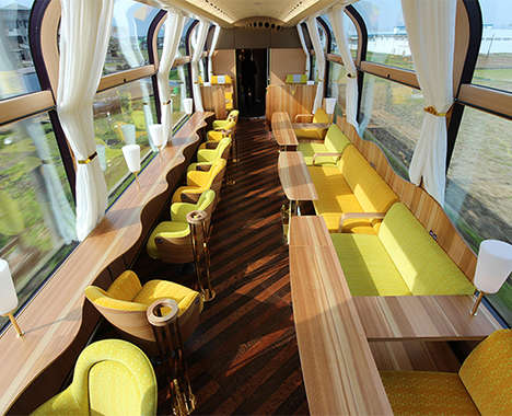 Panoramic Train Interiors