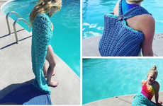 Mythical Crocheted Towels - The Mermaid Beach Bag Towel Brings a Little Whimsy to the Pool and Beach