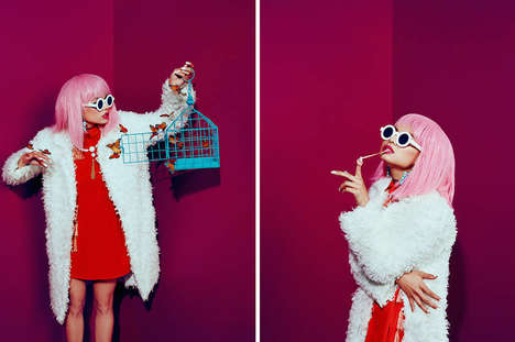 Quirky Chromatic Photoshoots - Dean Bradshaw's Latest Project is Inspired by The Master of Disguise