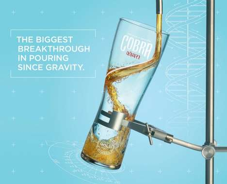 Engineered Beer Glasses - Cobra's Beer Glass Design Uses Hydrodynamics to Create the Perfect Pour