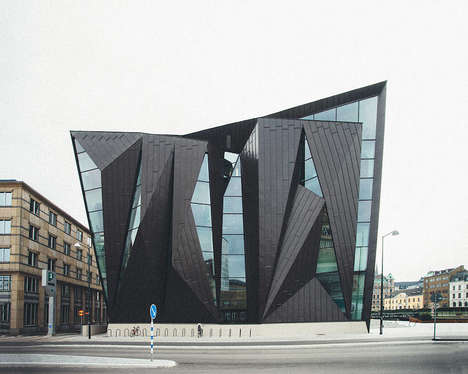 Geometric School Designs - The Maritime University of Malmo Takes on a Sculptural Appearance