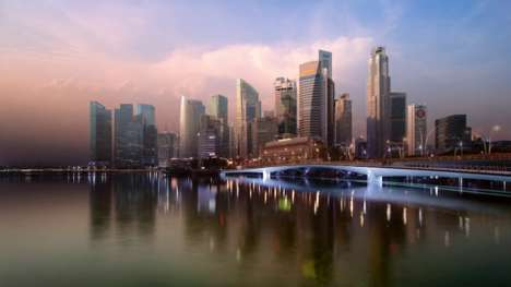 Layered Cityscape Time Lapses - Keith Loutit Stacks Three Years of Photos to Showcase Singapore