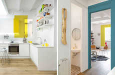 Egue y Seta Plays with Random Pops of Color in All-White Home
