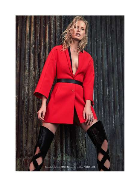 Glam Grunge Editorials - The Archetype Magazine Caroline Winberg Photshoot is Full of Attitude