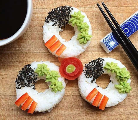 Donut-Shaped Sushi - This Vegan Chef Creates Intricate and Colorful Sushi Donuts