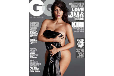 Curvy Celebrity Covers - Kim Kardashian Flaunted Her Post-Pregnancy Figure for a GQ Magazine Cover