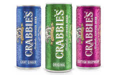 Compact Ginger Beer Packaging - The New Crabbie's Alcoholic Ginger Beer Cans are Millennial-Focused