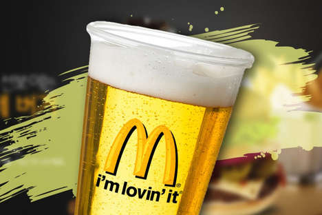 Celebratory Beer Deliveries - The McDonald's Menu Will Include Beer Options for Austrian Consumers