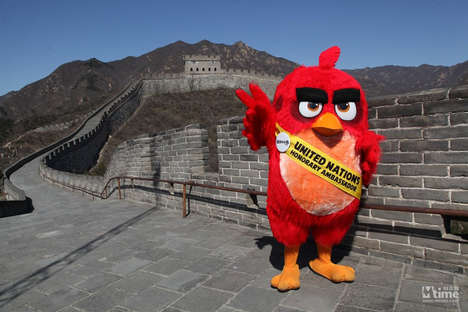 Environmental Mascot Campaigns - This Angry Birds Publicity Stunt Aims to Raise Eco Awareness