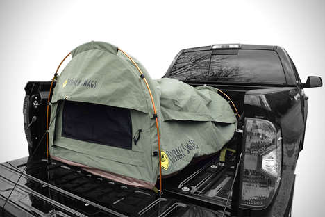 Automotive Tent Pods - The Outback Swags Tent is Designed for Personal Use In the Trunk of a Truck