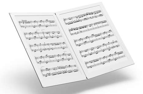 Digital Sheet Music readers - The GVIDO E Ink Sheet Music Reader Does Away with Traditional Paper