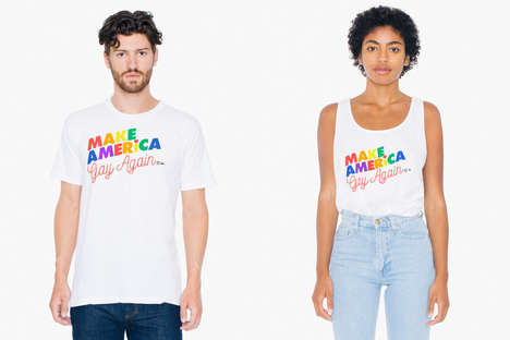 Political Pride Collections - The 'Make America Gay Again' T-Shirts Celebrate Pride Month