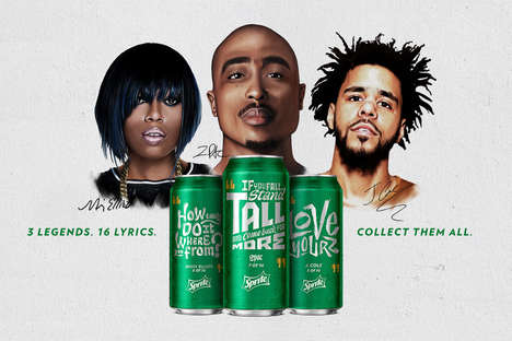 Rewarding Rapper Sodas - You Can Receive Prizes by Posting Pictures of These Unique Sprite Soda Cans