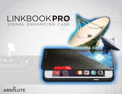 Smartphone Signal-Enhancing Cases - The 'LINKBOOK PRO' Signal Booster Increases Connectivity